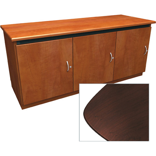 Middle Atlantic Contemporary-Style Finishing Kit for 3-Bay Credenza Rack (Dark Cherry)