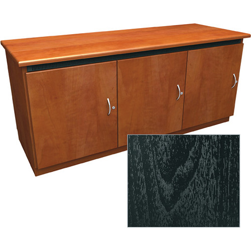 Middle Atlantic Contemporary-Style Finishing Kit for 3-Bay Credenza Rack (Ebony Ash)