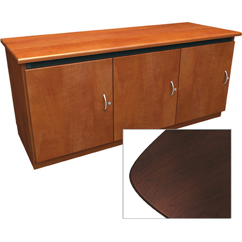 Middle Atlantic Contemporary-Style Finishing Kit for Deep Credenza Rack (Dark Cherry)