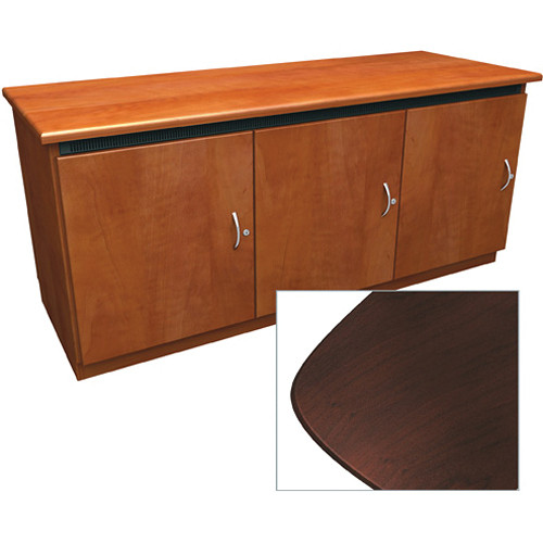 Middle Atlantic Contemporary-Style Finishing Kit for C5 Series 3-Bay Credenza Rack (Dark Cherry)