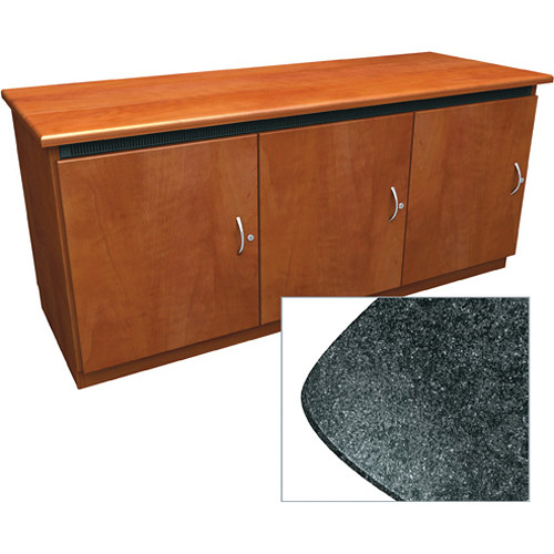 Middle Atlantic Contemporary-Style Finishing Kit for C5 Series 3-Bay Credenza Rack (Darkstone)