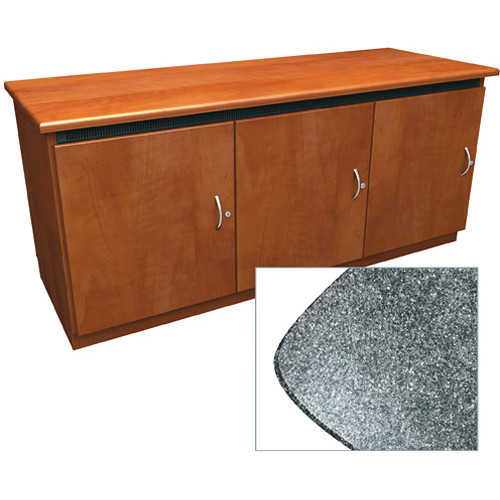 Middle Atlantic Contemporary-Style Finishing Kit for C5 Series 3-Bay Credenza Rack (Graystone)