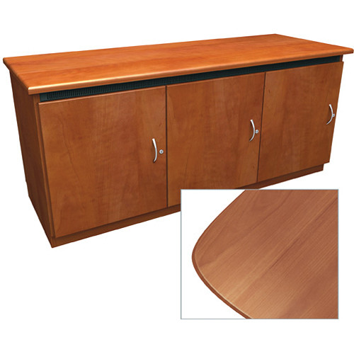 Middle Atlantic Contemporary-Style Finishing Kit for C5 Series 3-Bay Credenza Rack (Honey Maple)