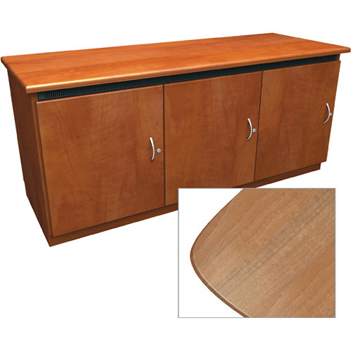 Middle Atlantic Contemporary-Style Finishing Kit for C5 Series 3-Bay Credenza Rack (Light Walnut)