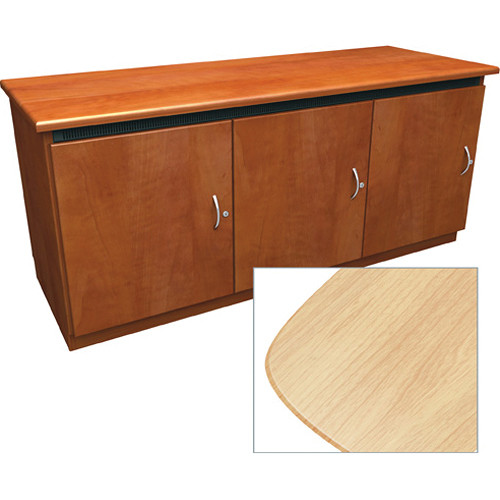 Middle Atlantic Contemporary-Style Finishing Kit for C5 Series 3-Bay Credenza Rack (Maple)