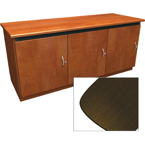 Middle Atlantic Contemporary-Style Finishing Kit for C5 Series 3-Bay Credenza Rack (Wenge)
