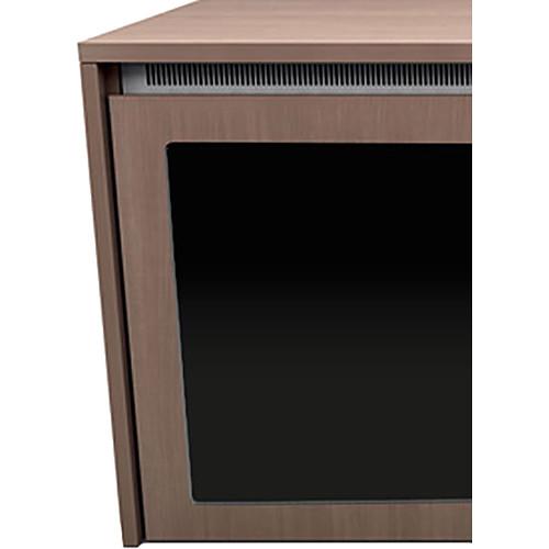 "Middle Atlantic C5 3-Bay Moderno HPL Wood Kit with Plexi Doors (27 x 32"")"