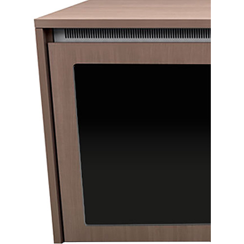 """Middle Atlantic C5 3-Bay Moderno Thermolaminate Wood Kit with Plexi Doors (27 x 32"""")"""