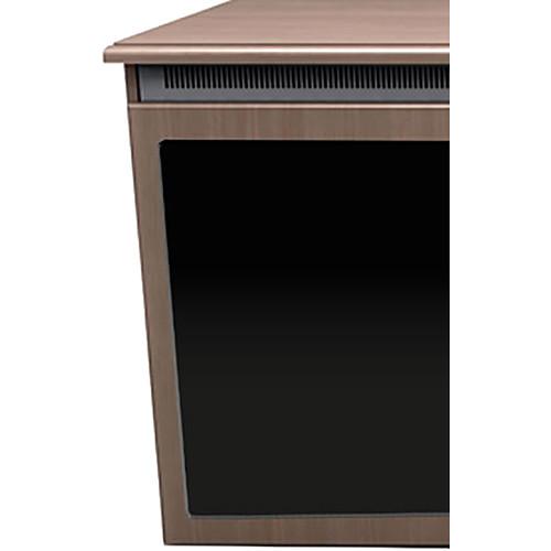 "Middle Atlantic C5 3-Bay Klasik Thermolaminate Wood Kit with Plexi Doors (31 x 32"")"