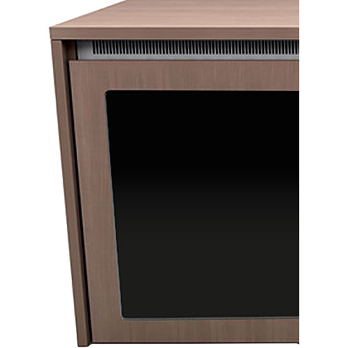 "Middle Atlantic C5 3-Bay Moderno Thermolaminate Wood Kit with Plexi Doors (31 x 32"")"