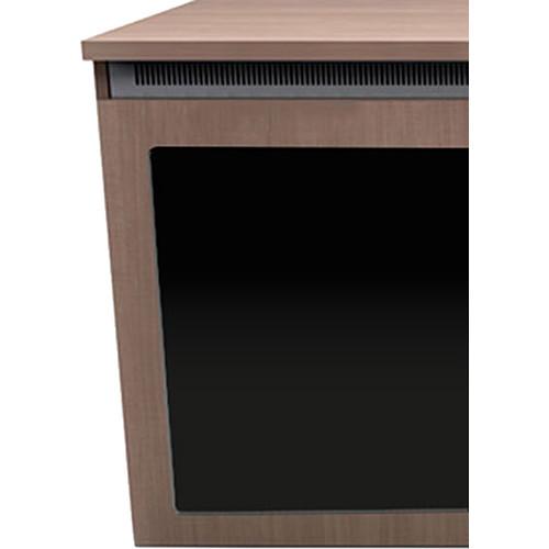 "Middle Atlantic C5 3-Bay Sota HPL Wood Kit with Plexi Doors (31 x 32"")"