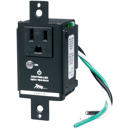 Middle Atlantic Remotely Switched NEMA 5-15R Wall Plate (12A)