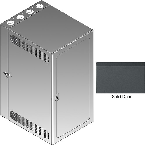 Middle Atlantic CWR Series 12-17SD Cabling Wall Mount Rack with Solid Front Door
