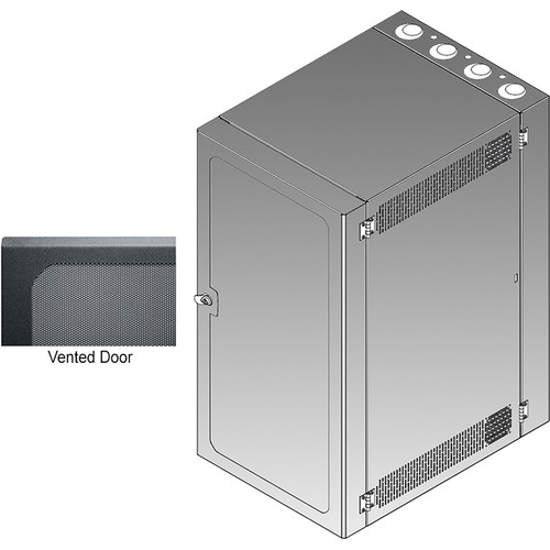 Middle Atlantic CWR Series 12-26VD4 Cabling Wall Mount Rack with Deep Vented Front Door