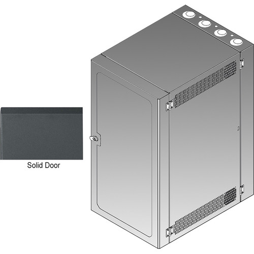 Middle Atlantic CWR Series 12-36SD4 Cabling Wall Mount Rack with Deep Solid Front Door