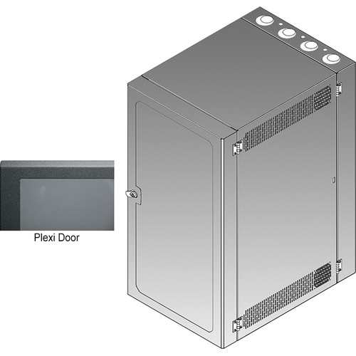 Middle Atlantic CWR Series 26-26PD4 Cabling Wall Mount Rack with Deep Plexi Front Door
