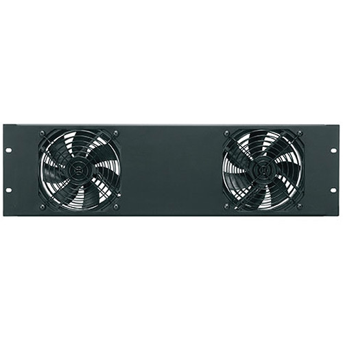 Middle Atlantic FANPNL-2DC 138 CFM Essex Fan Panel (Flat Black)