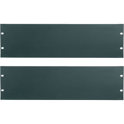 Middle Atlantic Essex Blank Panels (3U, Flat Black, 2-Pack)