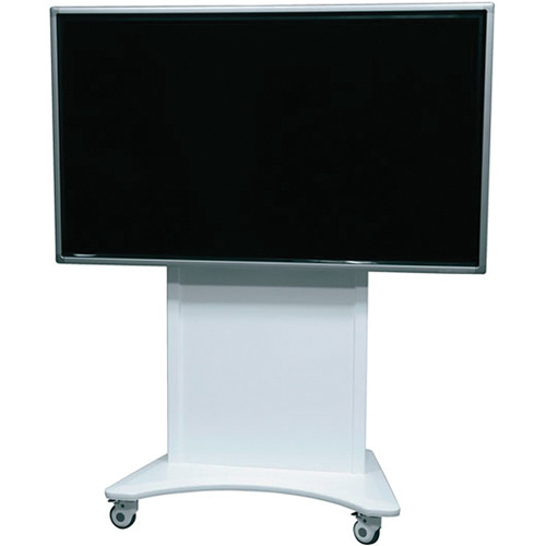 """Middle Atlantic FlexView Series FVS-800SC-WH Single Display Cart with 4"""" Casters (White)"""