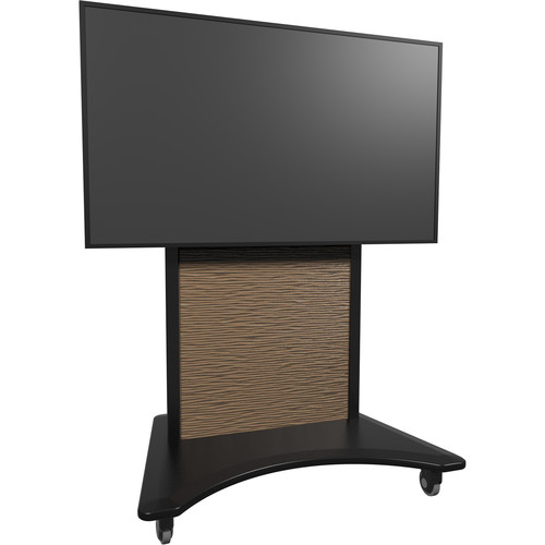 Middle Atlantic FlexView IFP Fixed Display Cart (Black Base, Bronze Metawave Finish)