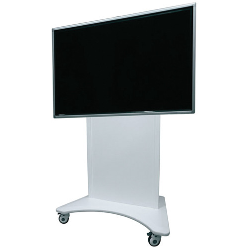 "Middle Atlantic FlexView Series FVS-800ESC-WH Electric Lift Display Cart with 4"" Casters (White)"