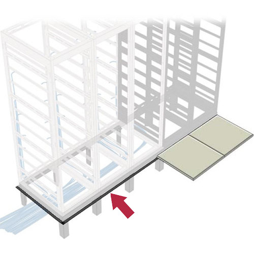 "Middle Atlantic GANGLE Series 3-Bay Raised Floor Support Angles for 24"" Deep Racks"