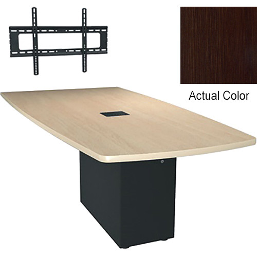 "Middle Atlantic Hub Angle Shaped Work-surface (72"", Thermolaminate Finish, Cafe Noir)"