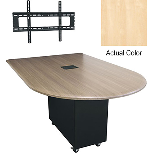 "Middle Atlantic Hub Bullet Shaped Work-surface (72"", High Pressure Laminate Finish, Native Maple)"