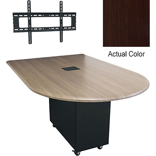 "Middle Atlantic Hub Bullet Shaped Work-surface (72"", Thermolaminate Finish, Cafe Noir)"