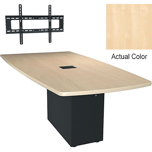 "Middle Atlantic Hub 84"" Angle Shaped Work Surface (High Pressure Laminate Finish, Native Maple)"