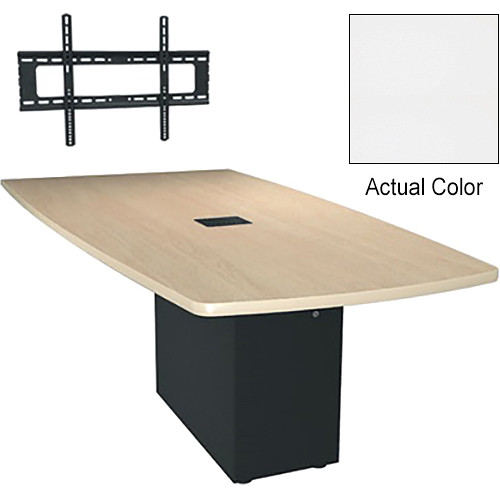 "Middle Atlantic Hub 84"" Angle Shaped Work Surface (Thermolaminate Finish, Frost)"