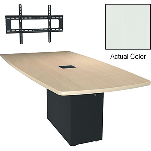 "Middle Atlantic Hub 84"" Angle Shaped Work Surface (Thermolaminate Finish, Gray Ash)"