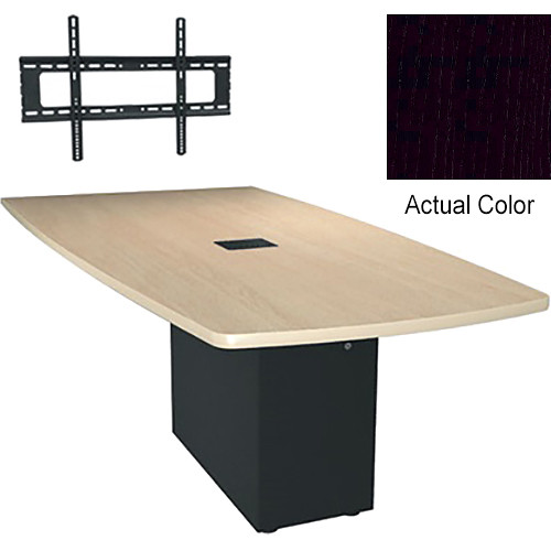 "Middle Atlantic Hub 84"" Angle Shaped Work Surface (Thermolaminate Finish, Nighttide)"