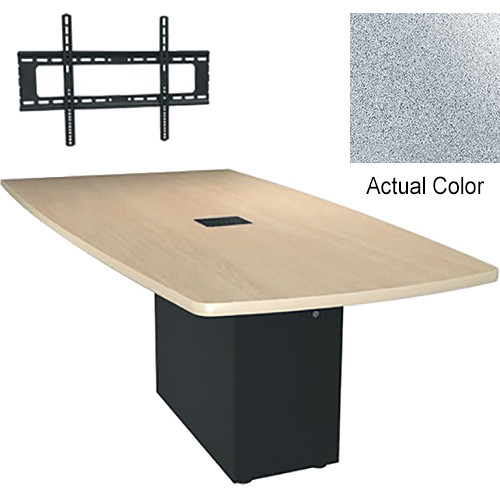 """Middle Atlantic Hub 84"""" Angle Shaped Work Surface (Thermolaminate Finish, Pepperstone)"""