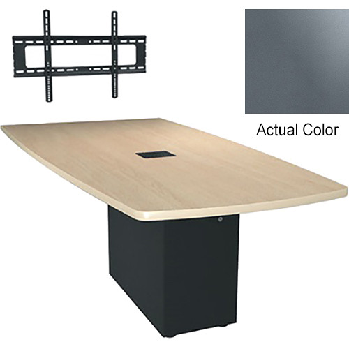 "Middle Atlantic Hub 84"" Angle Shaped Work Surface (Thermolaminate Finish, Shark Gray)"