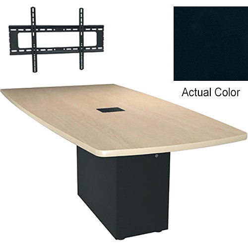 "Middle Atlantic Hub 84"" Angle Shaped Work Surface (Thermolaminate Finish, Slate)"