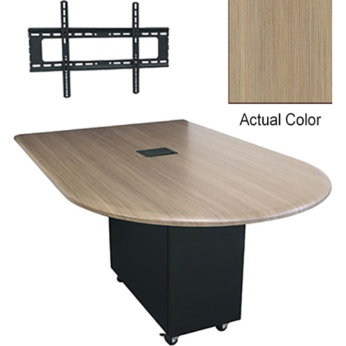 "Middle Atlantic Hub 84"" Bullet Shaped Work Surface (High Pressure Laminate Finish, Ibis)"