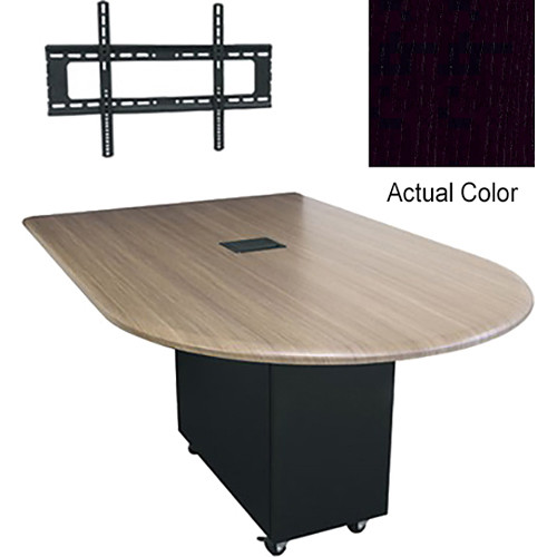 "Middle Atlantic Hub 84"" Bullet Shaped Work Surface (High Pressure Laminate Finish, Nighttide)"