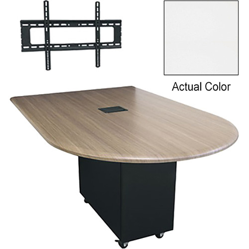 """Middle Atlantic Hub 84"""" Bullet Shaped Work Surface (Thermolaminate Finish, Frost)"""