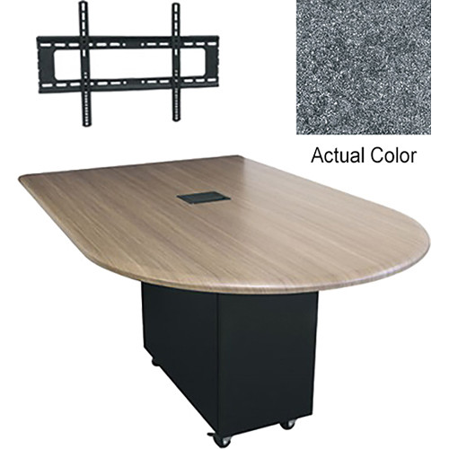 "Middle Atlantic Hub 84"" Bullet Shaped Work Surface (Thermolaminate Finish, Graystone)"