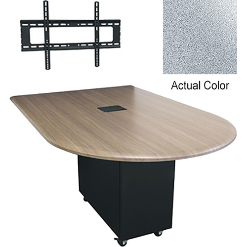 "Middle Atlantic Hub 84"" Bullet Shaped Work Surface (Thermolaminate Finish, Pepperstone)"