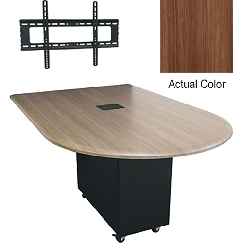 """Middle Atlantic Hub 84"""" Bullet Shaped Work Surface (Thermolaminate Finish, Sienna)"""
