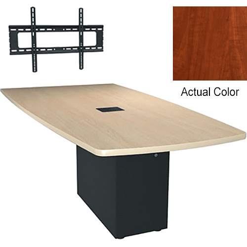 "Middle Atlantic Hub 96"" Angle Shaped Work-surface (Thermolaminate Finish, Auburn Stream)"