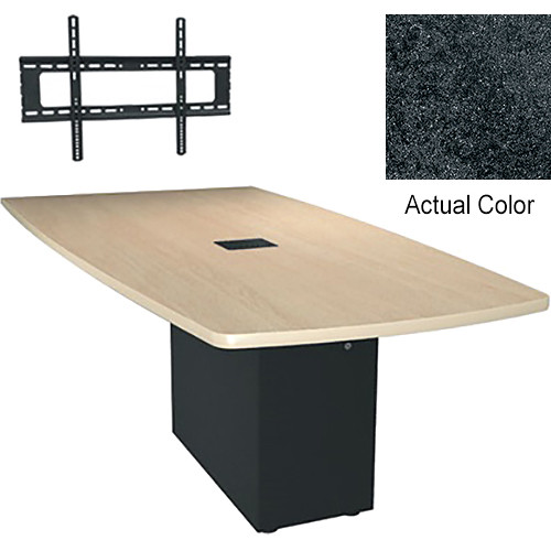 "Middle Atlantic Hub 96"" Angle Shaped Work-surface (Thermolaminate Finish, Darkstone)"