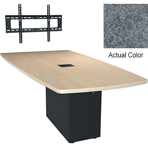 "Middle Atlantic Hub 96"" Angle Shaped Work-surface (Thermolaminate Finish, Graystone)"