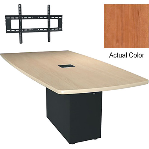 "Middle Atlantic Hub 96"" Angle Shaped Work-surface (Thermolaminate Finish, Hazelnut Maple)"