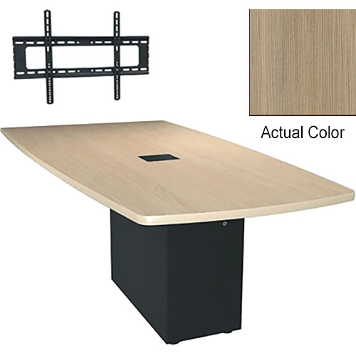 "Middle Atlantic Hub 96"" Angle Shaped Work-surface (Thermolaminate Finish, Ibis)"