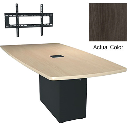 "Middle Atlantic Hub 96"" Angle Shaped Work-surface (Thermolaminate Finish, Timberwolf)"