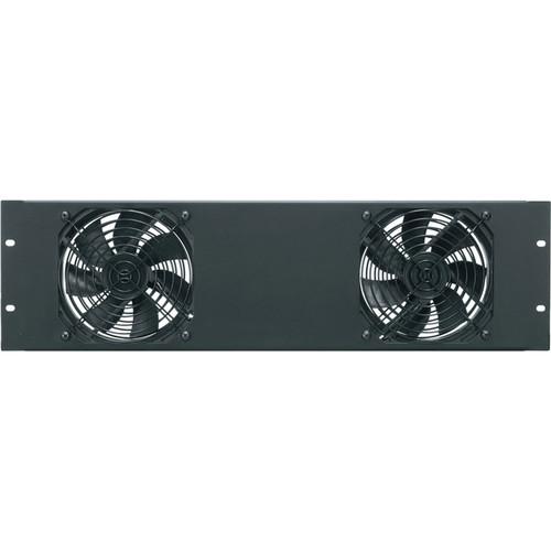 Middle Atlantic Essex Fan Panel with Dual DC Fans (Black)