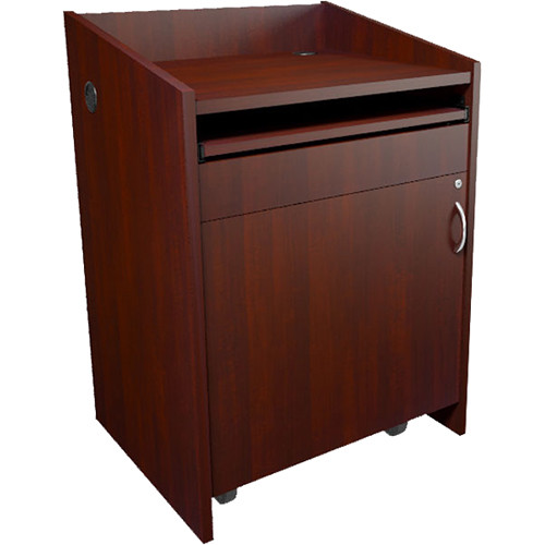 Middle Atlantic L2 Series Lectern with Connectivity (Grained Dark Cherry)